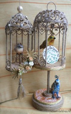 How to make bird cage from jute - Crazzy Craft Diy Crafts For Kids, Easy Crafts, Arts And Crafts, Handmade Christmas Gifts, Handmade Gifts, Art Corde, Rolled Paper Art, Rope Art, Jute Crafts