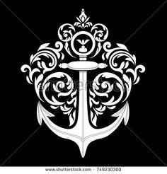 Anchor Sketch, Crest Tattoo, Anchor Tattoo Design, Tattoos Gallery, Family Crest, Anchors, Sailor, Tattoo Designs, Logo Design