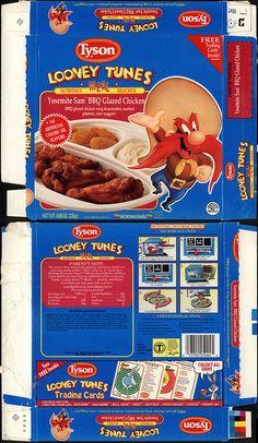 Tyson - Looney Tunes Meal - Yosemite Sam BBQ Glazed Chicken - tv dinner box - 1990 by JasonLiebig, via Flickr