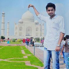 #mytajmemory #Taj Mahal holding pose#Epitome of Love #Agra #Travel Diaries..... by alex_iusf #IncredibleIndia #tajmahal
