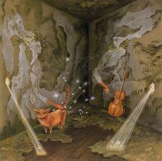 Remedios Varo... Kitteh & cello, my favourite things!
