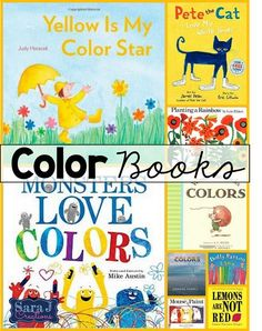 There are so many great books out there about colors but this list highlights… Kindergarten Colors, Preschool Colors, Teaching Colors, Teaching Kindergarten, Preschool Art, Preschool Learning, Early Learning, Learning English, Learning Games