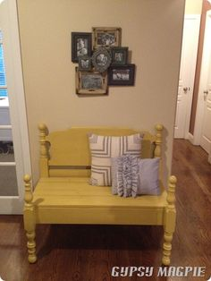Old Bed to Bench aka Repenting Bench tutorial {Gypsy Magpie}
