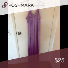 Ombré long maxi dress Beautiful purple ombré maxi dress with braid shoulder straps Dresses Maxi
