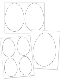 Get these large and small printable easter egg shape downloads to craft up some Easter decorations, games, and cards.