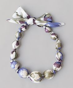 Do! --- Take a look at this Periwinkle & Sage Beaded Necklace on zulily today!
