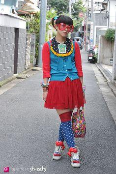 FASHION JAPAN: Yuko (Ribbon) (Harajuku,Tokyo,JANIE JONES,6%DOKIDOKI,UNIQLO,Jane Marple,SPINNS,Romantic Standard,Romantic Standard)
