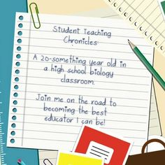 """Follow my student teaching experience as a high school biology teacher! You can follow updates by following the blog itself on Blogger, twitter (@The Smart Blonde) or just click the """"STC"""" tag on my blog to find all related posts. Enjoy!"""
