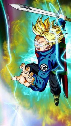 Trunks Super Saiyan, Super Trunks, Dbz Super Saiyan, Rage, Trunks And Mai, Trunks Dbz, Black Anime Characters, Dragon Ball Z, Cute Drawings