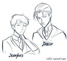 Draco and Scorpius by viria