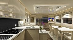 Prices for the three-cabin Overblue 44 start at £240,000, cheaper than a small studio flat in London, but buyers can expect to fork out at least £600,000 for the top spec 64ft model