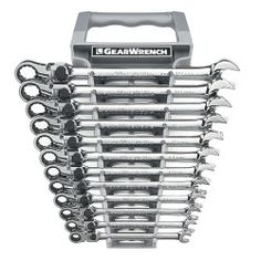 KD Tools 12 Piece Metric GearWrench XL Locking Flex Head Ratcheting Wrench Set KDT85698