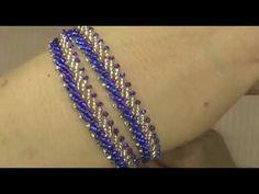 Питербуржская цепочка МК/ Petersburg chain MK - YouTube Beaded Jewelry Designs, Handmade Beaded Jewelry, Bead Jewellery, Handmade Bracelets, Crystal Jewelry, Beaded Bracelets, Earring Tutorial, Bracelet Tutorial, Beading Tutorials