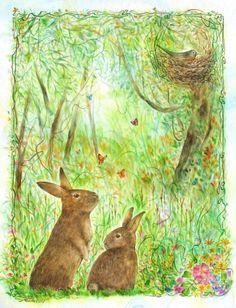 'Bedtime Story' Print by Montri Samchimchom - Etsy $ 9.99