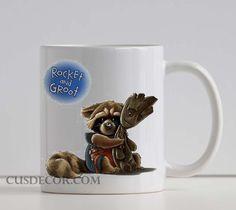 Guardians of the galaxy groot rocket raccoon cute Ceramic mugs