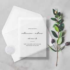Minimal Vellum Save The Dates Transparent/Translucent with Premium Envelope & Sticker #weddings #invitation #clear #vellum #translucent #seethrough #transparent #minimal #modern #vellumsavethedates #transparentsavethedates #clearsavethedates #translucentsavethedates