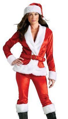 730d17a814 Fun World Costumes Women s Ms.Santa Pant Set Adult Costume  Includes velvet  jacket with faux fur trim