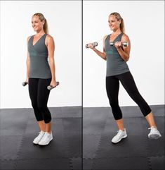 Bicep Curl with Lateral Leg Raise Strength Training Workouts, Toning Workouts, Get Skinny, Skinny Girls, Group Fitness, Fitness Tips, Health Fitness, Fitness Classes, Fitness Workouts