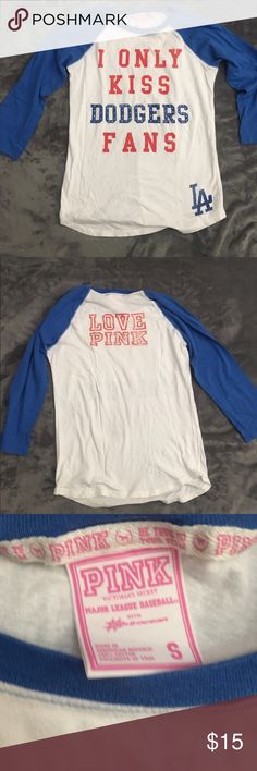 Dodger Shirt make me an offer😊💕 PINK Victoria's Secret Tops
