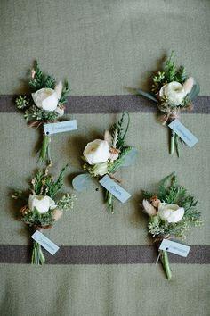 Don't forget gorgeous Boutonnièr's for your grooms men as well! See the range at Lucy's for your special day!