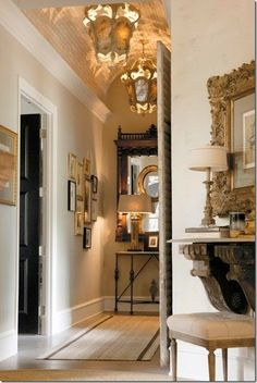 Barrel Ceiling and accessory from the home of Randall Weeks (Aidan Gray). posted from Cote de Texas Decor, House Design, House, Interior, Home, Beautiful Interiors, House Interior, Home Interior Design, Interior Design