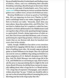 New York Magazine April 2016 Bill W, Good Buddy, We Meet Again, Get Over It, Tom Hiddleston, Magazine, York, Random, People