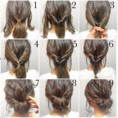 Easy updos for short hair to do yourself facial hair pinterest 5 minute hair bun fashion hair diy hairdo updo hairstyle bun instructions directions step by step how to pictorial tutorial perfect bun tutorial solutioingenieria Gallery