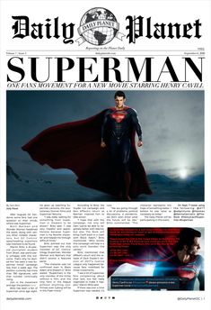 Read about one fans campaign for a new Superman movie in our latest online edition!