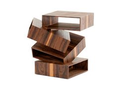 Solid wood coffee table BALANCING BOXES by Porro | design FRONT