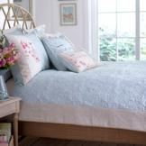 With botanical embroidery featuring birds, flowers and birdcages over a printed floral silhouette, our duck egg blue bedding set will bring a feel of relaxation to your bedroom Duck Egg Blue Bedding, Blue Bedding Sets, Bedroom Themes, Girls Bedroom, Master Bedroom, Bedroom Ideas, Bedrooms, Bed Spreads, Linen Bedding