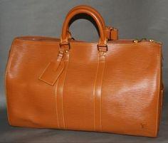 d3d21015e64 Authentic Louis Vuitton Cipango Gold Keepall 45 Duffle Travel Bag 36 items  on MALLERIES