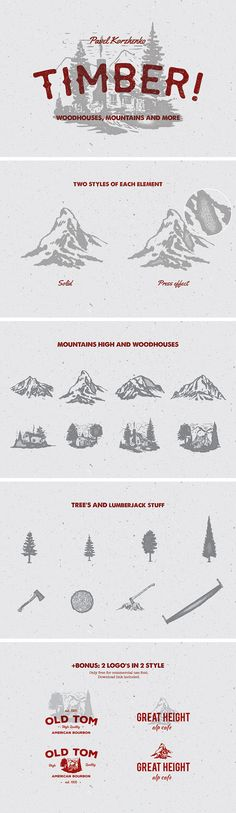 Timber! Vector Elements Set - Great inspiration!