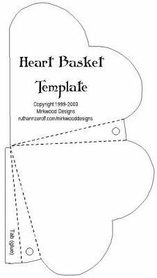 Moldes de Caixas de coração | Pra Gente Miúda