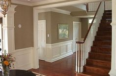 9 Remarkable Tricks: Wainscoting Board And Batten Bedrooms wainscoting foyer entry hall. Window Molding Trim, Moldings And Trim, Crown Molding, Fixer Upper, Dining Room Wainscoting, Painted Wainscoting, Wainscoting Panels, Dining Room Corner, Trim Carpentry