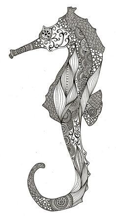 Seahorse, love the patterns by hreshtak
