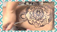 #hennaforhair #hennapaste Henna Tatto on Legs 2nd Thigh Henna, Henna Hair, Thigh Tattoos, Henna Designs, Thighs, Legs, Upper Leg Tattoos, Henna Art Designs, Thigh