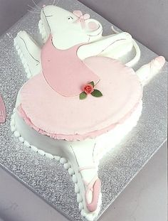 Angelina Ballerina Cake - Emery would love this! by sophia