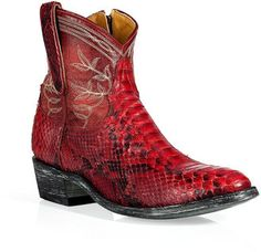 Mexicana Red Embroidered Boots