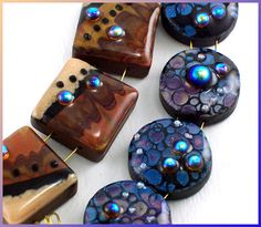 Faux Lampwork bead tutorial from Eugenascreations