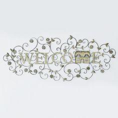 'Welcome' Metal Wall Art - Sears   Sears Canada