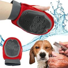 Soft Mitt Cat and Dog Grooming Glove Brush Deshedding & Massaging Tool