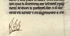 Book marginalia; trifecta of manicules
