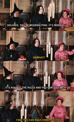 harry potter + mean girls = excellence