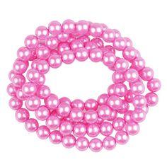 Fashion Beads, Round Glass, Hot Pink, Jewelry Making, Pearls, Diy, Html, Bricolage, Pink