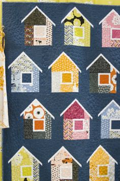 Neighborhood quilt by Elizabeth Hartman, Madrona Road collection by Violet Craft for Michael Miller Fabrics