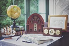 Perfect guestbook corner for elegant travel themed wedding. Travel Party, Super Secret, Guestbook, Travel Themes, Event Decor, Proposal, Corner, Party Ideas, Decorations