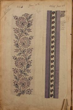 4564 and 4565. French textile design workbook. 1863. Maison...
