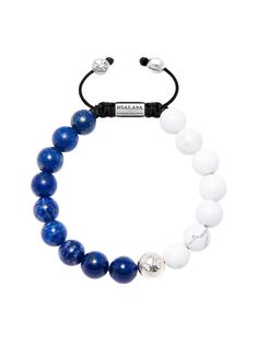 Easy Return & Exchange Service Blue Lapis and Howlite - Nialaya Logo Bead in 925 Solid Silver - Lock in 925 Solid Silver - Product Code: Designer's Notes Our classic beaded bracele Beautiful Short article Diy Jewelry, Beaded Jewelry, Handmade Jewelry, Jewelry Making, Beaded Bracelets, Men Bead Bracelet, Stone Bracelet, Simple Bracelets, Bracelets For Men