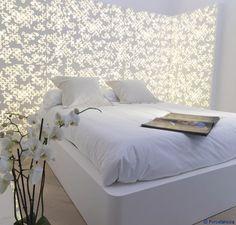 Tête de lit retro-éclairée Krion® / Porcelanosa