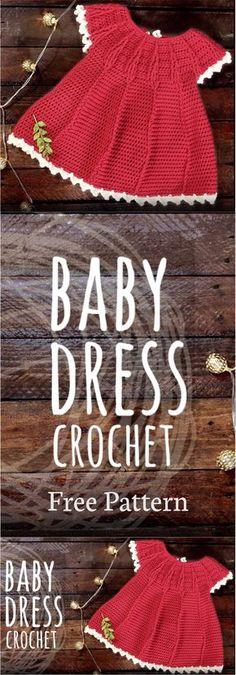 Fabulous Crochet a Little Black Crochet Dress Ideas. Georgeous Crochet a Little Black Crochet Dress Ideas. Crochet Baby Dress Free Pattern, Crochet Baby Blanket Beginner, Crochet Baby Clothes, Free Crochet, Knit Crochet, Crochet Patterns, Crochet Baby Dresses, Pattern Dress, Crochet Girls